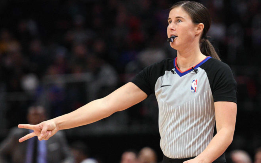 Two female referees to officiate same game for first time in NBA history