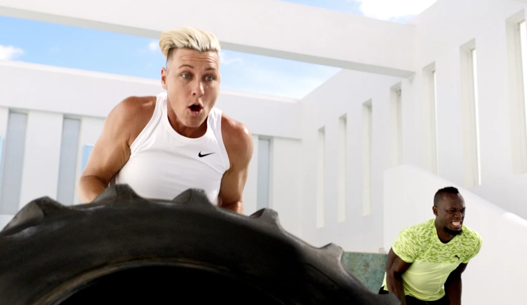 Michael Jordan & Mia Hamm Back in New 'Anything You Can Do' Ad with Abby Wambach & Usain Bolt