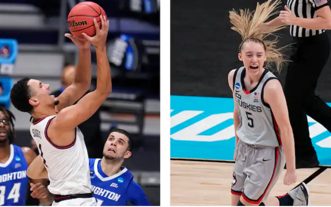 When Paige Bueckers and Jalen Suggs faced each other, it was 'just amazing stuff'