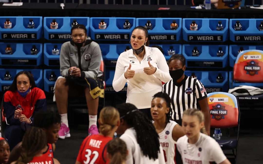 Adia Barnes addresses possibility of replacing Sean Miller as Arizona basketball coach