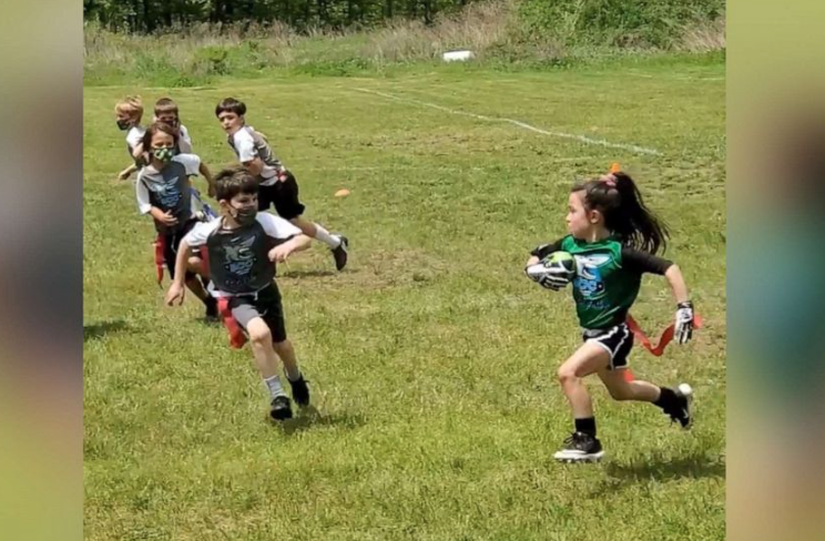 6-year-old football player is force to be reckoned with on the field