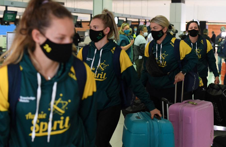 Australian softball squad leaves for Tokyo Olympics, among first athletes to travel to Japan for Games