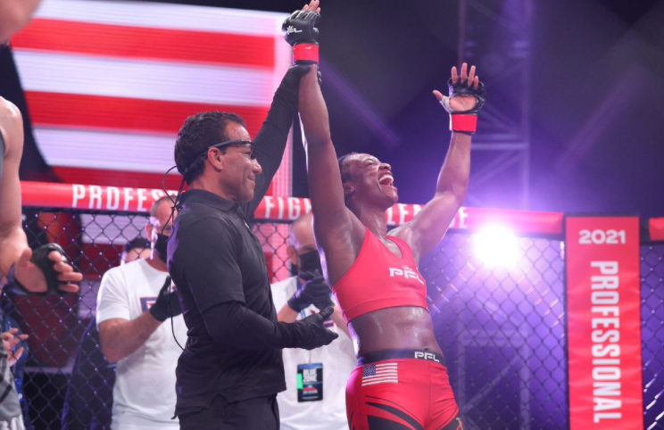 Claressa Shields took the first step in a long journey by winning her MMA debut