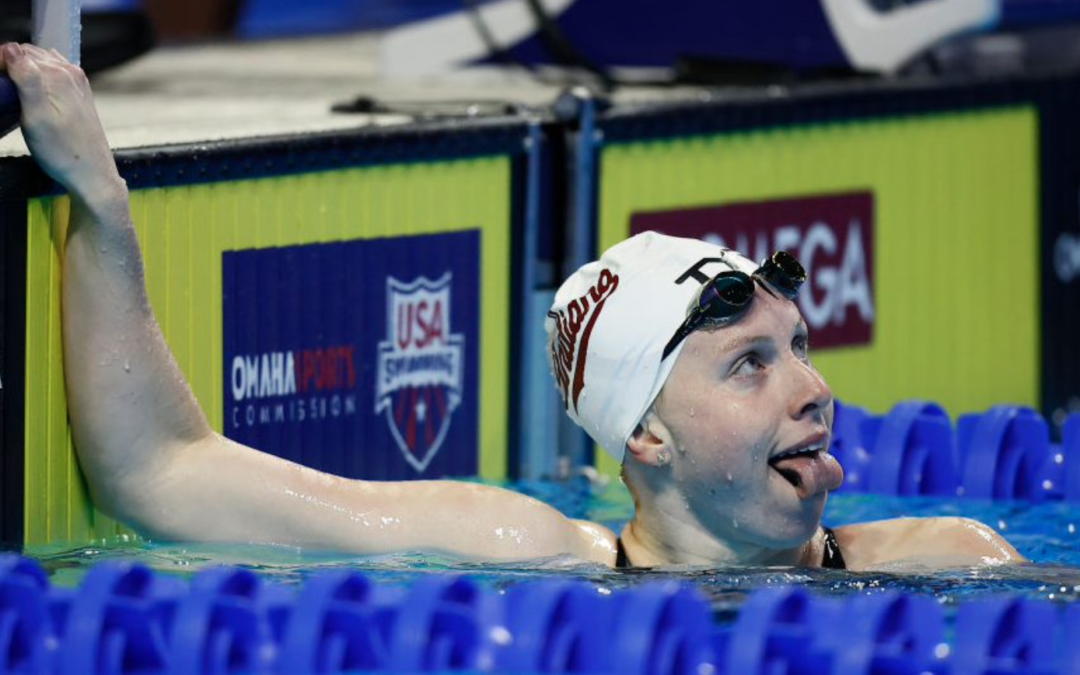 Lilly King, after a swim with snapping turtles, makes waves in, out of pool at Olympic Trials