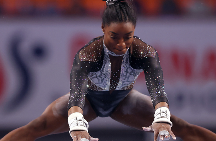 Simone Biles Wore The G.O.A.T Leotard To 'Hit Back' At Haters, Then Set Another Gymnastics Record