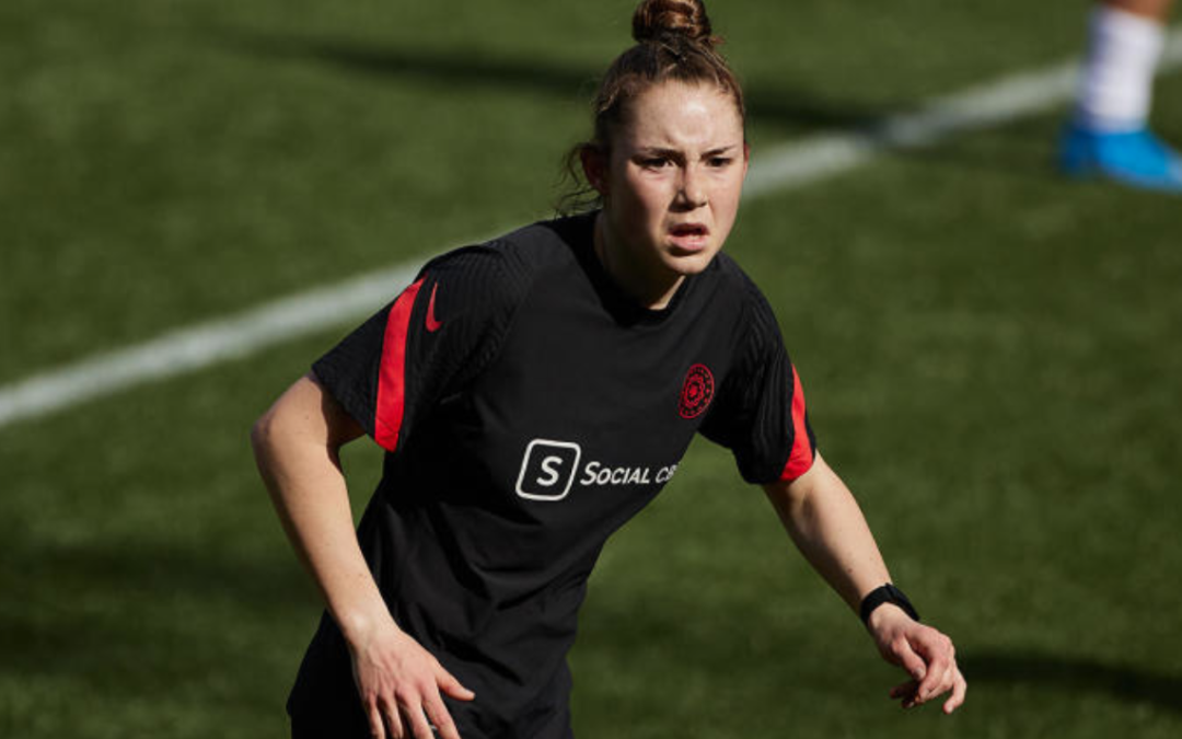 Teenager Olivia Moultrie becomes youngest player in NWSL history in regular-season debut for Portland Thorns