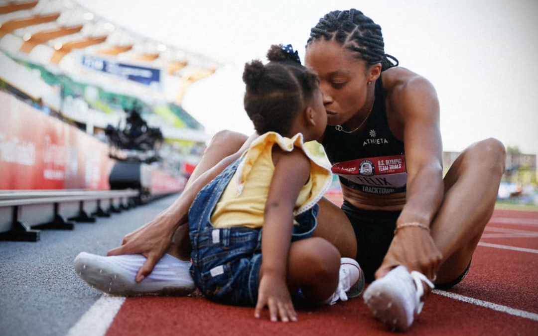 The most decorated Olympian in track and field history is giving fellow athletes $10K each for childcare