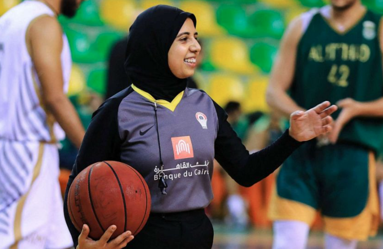 Hijab-wearing basketball referee out to blaze trail at Tokyo Olympics