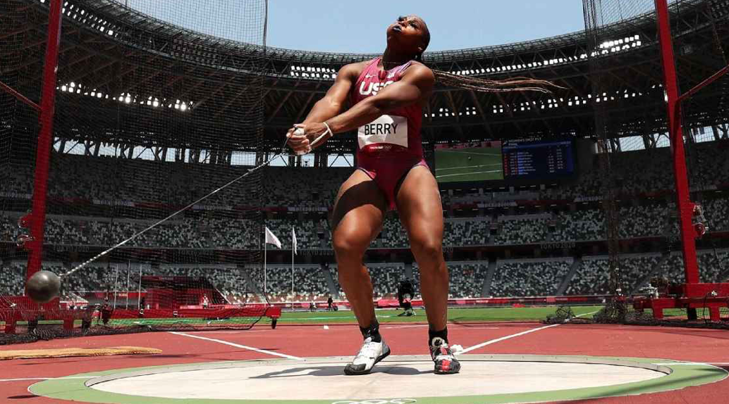 USA's outspoken hammer thrower Gwen Berry: 'I've earned the right to wear this uniform'