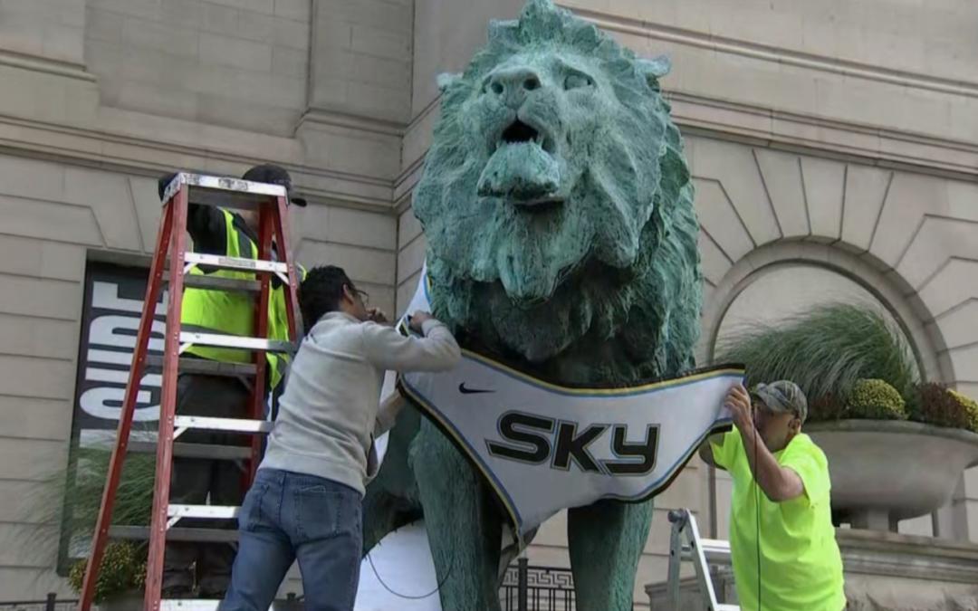 Art Institute Lions Sport Chicago Sky Jerseys for Playoffs Run